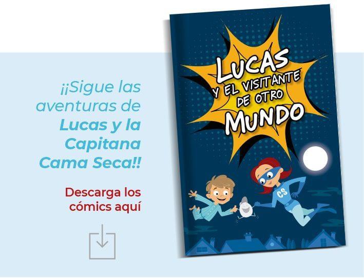 comic aventuras de Lucas mojar la cama enuresis