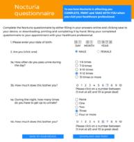 Nocturia questionnaire